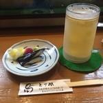 とり政 - 料理写真:お通しのお漬物(一部)