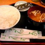 うず潮 - 朝食メニュー(ご飯・味噌汁・のり+おかず3品)