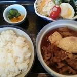 22360874 - (単品)すき煮&サラダ