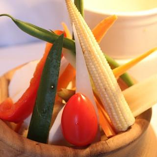 美味しい湘南野菜を堪能出来るバーニャカウダを是非ご賞味下さい