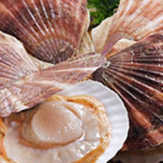 ホタテは特大5Lサイズ!!鮮度重視の魚介は日本各地から!