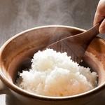 ・炊きたて土鍋コシヒカリ 2合(ディナーメニュー)