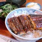 一心屋 青山支店 - 上鰻丼とお吸い物