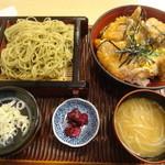 北池袋 長寿庵 - かつ丼セット(もりそば)