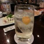 22373628 - 広島ハイボール・・・オレンジピールを入れてフルーティーにしたモノ