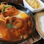 喫茶 神戸館 - ハンバーグランチ★