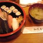 加茂寿司 - ランチの握り寿司800円也
