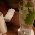 ドメ - 紫蘇日本酒・・・のカクテルだったような