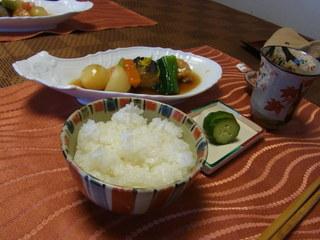 京遊膳かが田 - 炊き具合のちょうどいいご飯。お代わりできます