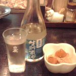 一休 - 日本酒冷酒「高清水」 683円也