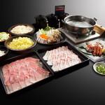 元気家元とん - 料理写真:基本コース 1580円