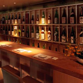 豊富な品揃えの日本酒