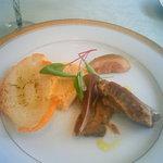 2239202 - 手長海老のリエットと豚ホホ肉のコンフィ
