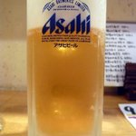 月うさぎ - まずは何時ものように生ビールからのスタートです。