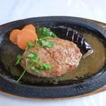 カープル - 本日のランチ 生ハムのせハンバーグ 1100円