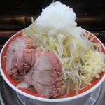 麺でる - 小ラーメン(麺少なめ野菜ニンニク玉ねぎ) 650円