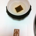 たか田八祥 - 昆布茶(ウエルカムドリンク)