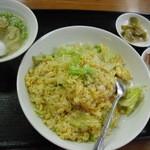 玉仙楼 - 海老炒飯セット