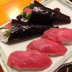 まる勝遊食膳 - 赤身のにぎりと手巻き寿司