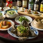 蓮根荘 - 手の込んだ料理の数々