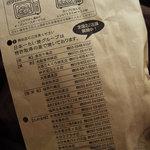 日本一たい焼き - ふくろ(裏)