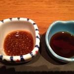 22412101 - 左が納豆醤油!めっちゃ美味し(((o(*゚▽゚*)o)))