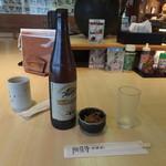 赤羽屋 - 瓶ビールは、1番搾り500円