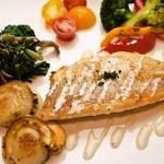 トライトライトライ - ディナーコースのお魚料理です。