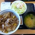 吉野家 - 料理写真:2013.11コモサラ、ごぼうサラダ&味噌汁