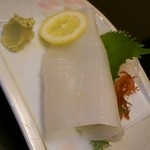 一天張 - 赤イカの刺身
