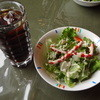 MUKUBAR - 料理写真:サラダ、アイスコーヒー