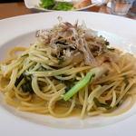 バッカナーレ - 料理写真:小柱と高菜のバター醤油パスタ