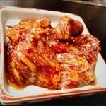 松福園 - 【上ロース】とろけるような上質なお肉でした♪鉄板で一気に焼き上げるので脂が程よい加減に☆