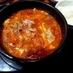 オモニのひと味 - 豚肉とキムチのキムチチゲ!(2013,11/9)