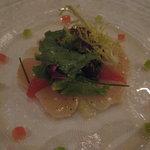 2243631 - 帆立貝のマリネ トマトとグレープフルーツのビネグレット