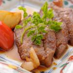 天ぷら ひさご - 宴会コースの国産牛ステーキ