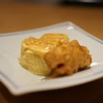 霞庭 まつばら - 出汁巻きとじゃが芋のフライ