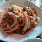 上海菜館 - 若鶏の唐揚げとヤサイのピリ辛甘酢炒め