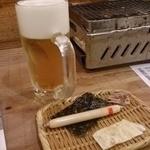 磯丸水産 - ビールとお通し