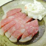 駿河路 - ハムステーキ+ポテサラ@200円