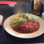 洋食屋キッチンKAZU - 自分はここのイタリアンハンバーグが大好きです! トマトソースがGood!