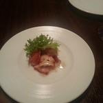 Bistro a vin EAU ROUGE - 付きだし 蛸とオマール海老のマリネ