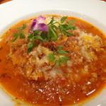 22444137 - 【トマトシーフードのリゾット風】サラダ・スープ付き