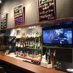 Bar AGARO - カウンターの中には大きなモニターがございますので、スポーツ観戦などは駅近の当店にて皆さんで盛り上がりましょう!