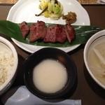 仙台 牛たん 三代目文治 - 牛タン定食+とろろ