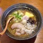 らーめんのくきつ - 冬季限定)味噌ラーメン(800円)