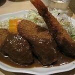 洋食屋 双平 - 海老は中身も太いですよ!