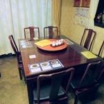 日光 翠園 - テーブル。英語メニューありました。