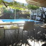 スターバックス・コーヒー - プール(といっても浅いが・・・)があるんです、お庭に