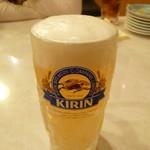 とり道楽 - 2013.11.10 ビール・・・(うす!)